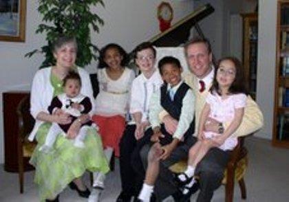 Jay Dunlap y su familia