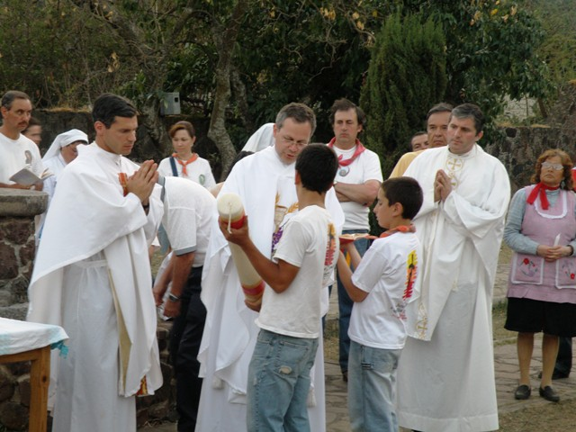 Easter vigil mass in malinalco