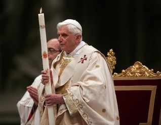 Pope Benedict at Easter vigil