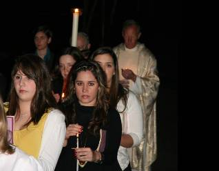 vigil mass holy week retreat