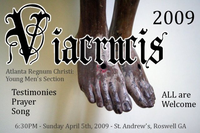 flyer for via crucis