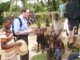 Fr Jeffery Jambon, LC, with some children from Asafo, Ghana.