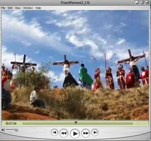 Footage from the live stations of the cross on missions.