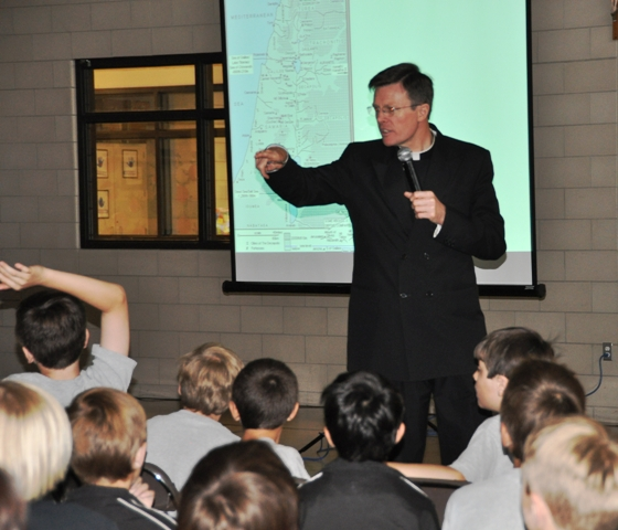 Fr Kelly with Everest students second pic