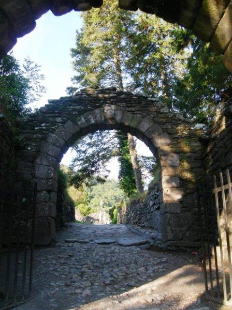 Glendalough monastery gates