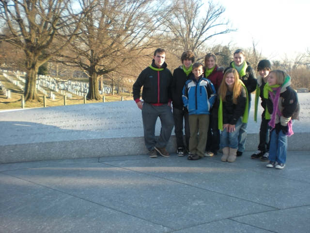 group at Kennedy memorial