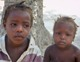 Two of the orphans at the Kay Mari Manman Tout Timoun orphanage.
