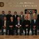 Los fundadores y asociados del Instituto de Estudios Superiores de Tamaulipas, junto con el P. Leonardo Núñez, director territorial de Monterrey (al centro).
