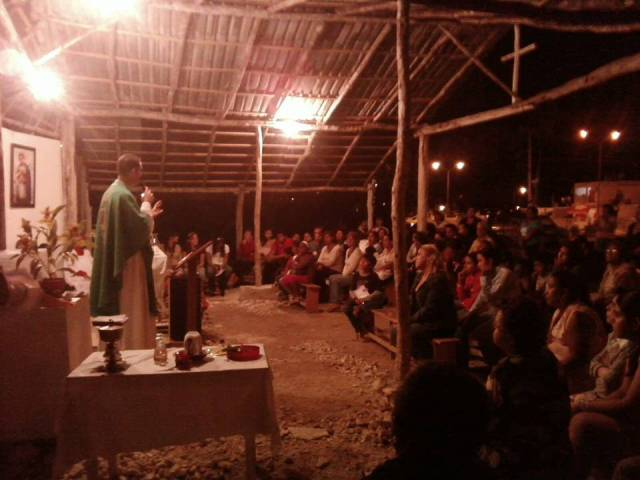 Fr Jeffery Jambon celebrating Mass