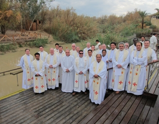 Jerusalem priests at Jordan River