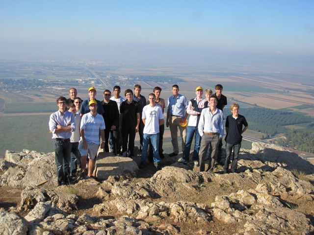 French boys on hill in Nazareth