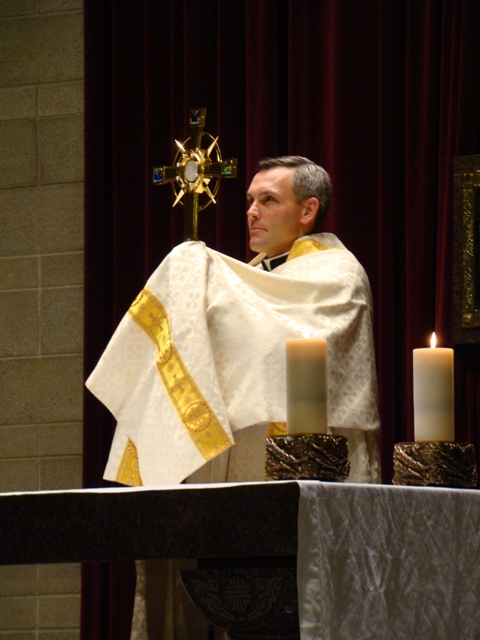 Fr Joseph Burtka with monstrance