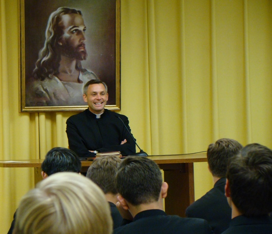 Fr Joseph Burtka preaching to novices