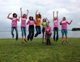 Convention girls show their JUMP! spirit.