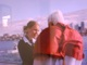 Katie Fullilove and Pope Benedict XVI have a personal conversation as the boat rides into Sydney Harbour.