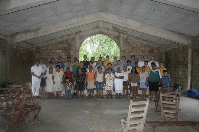 group inside church
