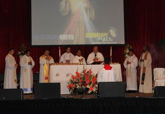 A moment during the concluding Mass on Saturday