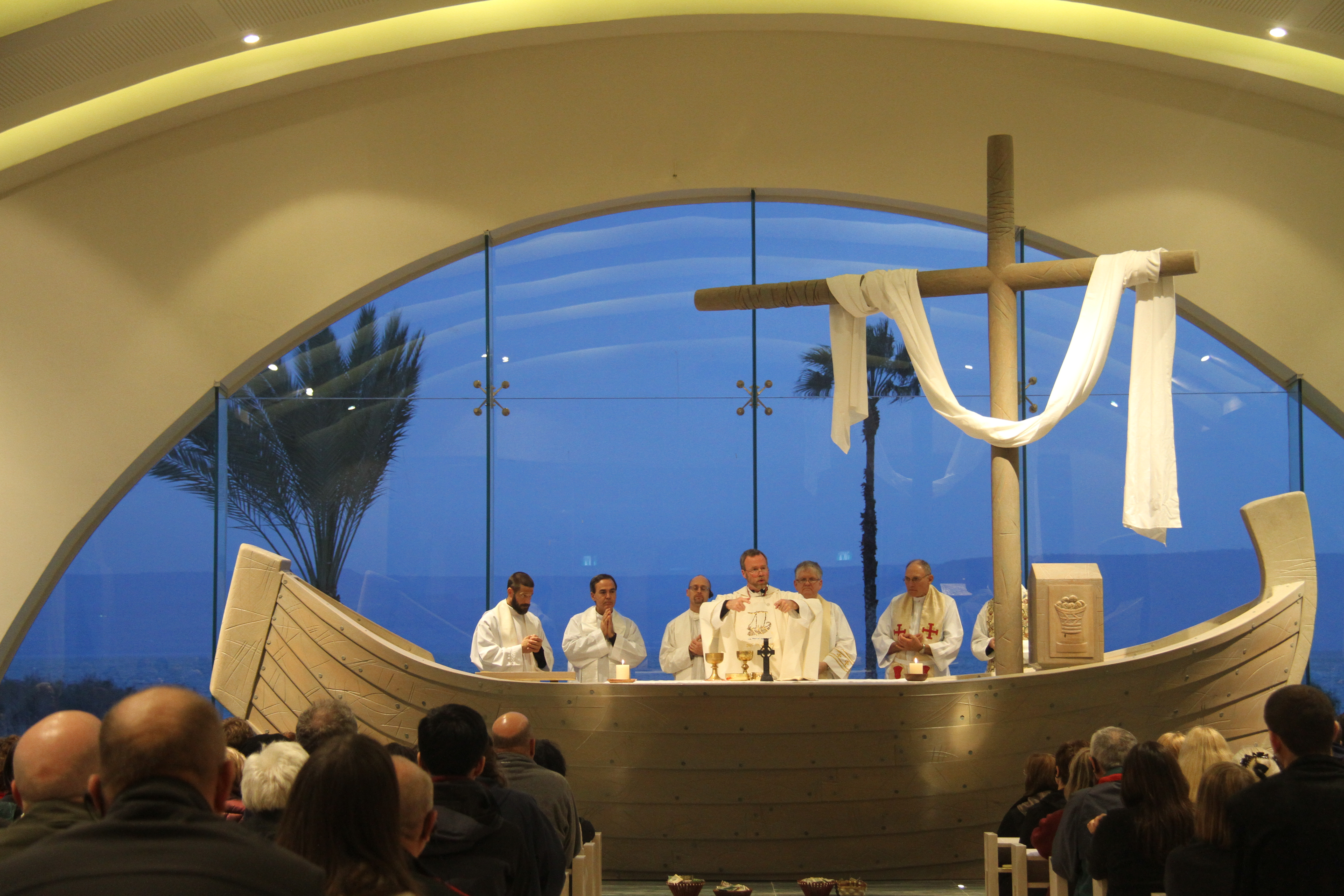 Mass is celebrated at Magdala Center Church
