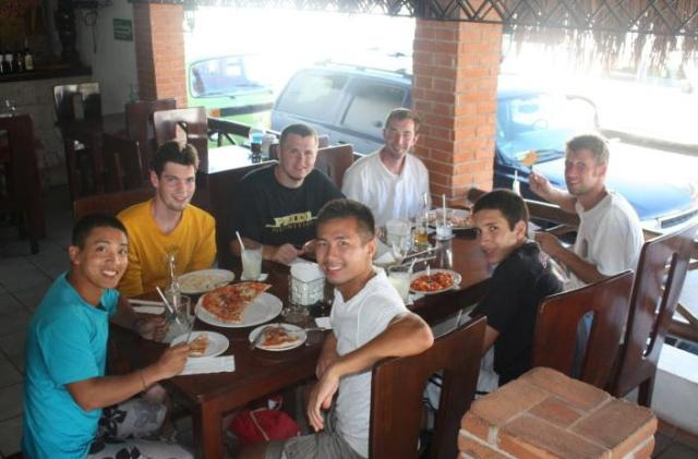 missionaries eating in mexico