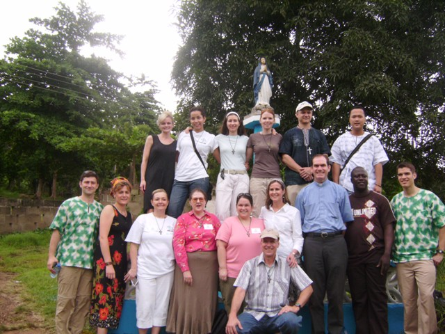 Fr Jeffery Jambon with missionaries
