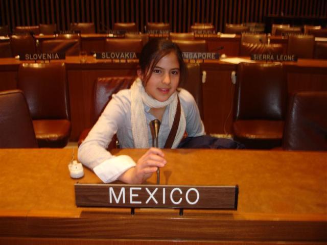 girl at UN