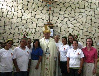 missionaries with bishop ppe