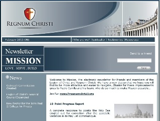 Mission Newsletter screen shot