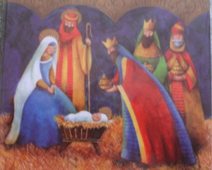 nativity scene with kings