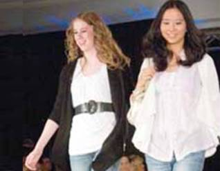 two girls fashion show