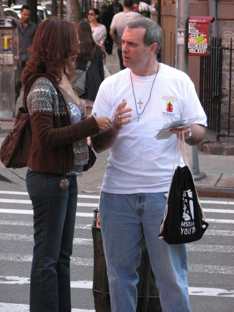 New York City evangelizing