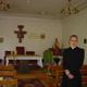 Nella cappella del seminario in Russia.