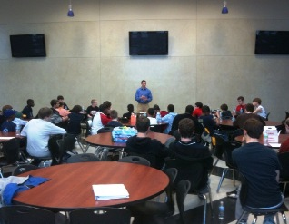 Eric Peterson talking to LTP boys