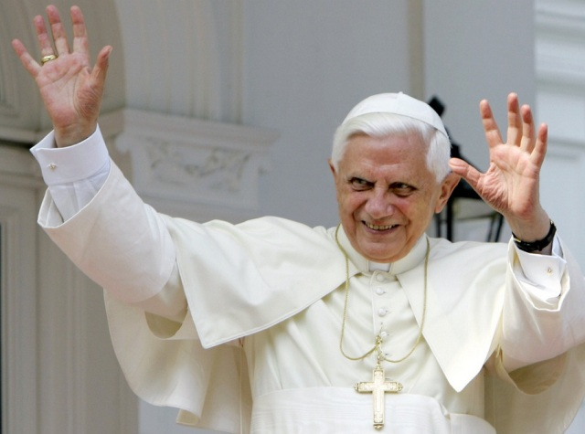 pope benedict in white