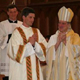 Mons. Paul-André Durocher and the assembly congratulate the new deacon.