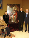 Mr. John Brogan and his wife (on wheelchair), with Father Mark Haydu, LC and Natalia Tsarkova.