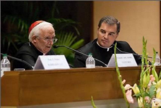 Cardinal and Fr Segura