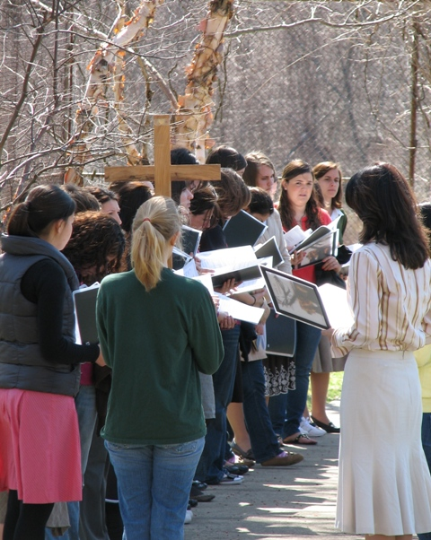 stations of the cross outside