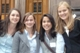 Beth Vogel, Quinci Scherber, Margaret Antonio, and Tori Backstrom at Yale University.