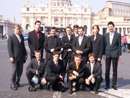Group of young Regnum Christi members from Slovakia during the Holy week in Rome (Photo on St. Peter´s square)