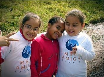 Alumnas del Colegio Mano Amiga, de Santa Julia, Brasil.