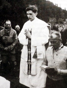 Joseph Ratzinger as a young priest.