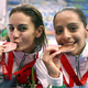 Paola Espinoza and Tatiana Ortiz, bronze medalists in the Beijing Olympics.