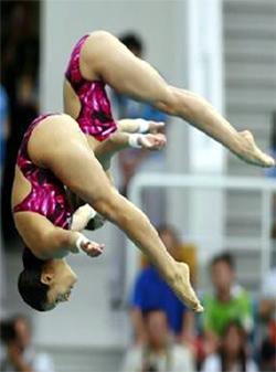 Ganaron la medalla del tercer lugar en salto sincronizado en la plataforma de 10 metros.