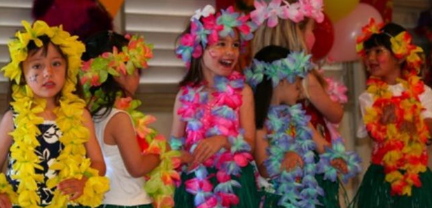 Aloha joy in the girls lower school.