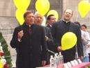El cardenal Norberto Rivera preside el homenaje a Juan Pablo II.