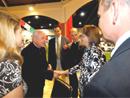 Karen Sester meeting Cardinal Rodé.