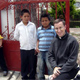 A Curso 2008 participant with some new friends from the local parish.