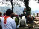 Misa oficiada por el P. Alejandro Arias, L.C. en el Centro Misionero Rafael Guízar y Valencia.