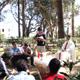 Los colaboradores participando en una misa en el Monte de las Bienaventuranzas, oficiada por el P. Juan Carlos Espinosa de los Monteros, L.C.