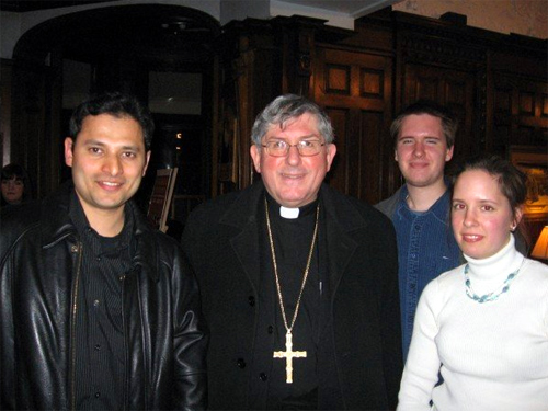 Archbishop Collins with university students